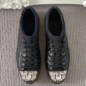 MIU MIU black patent sneakers